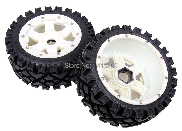 5B Front All Terrain wheels set with nylon super star wheel for baja parts,free shipping 5b rear knobby wheel set with nylon super star wheel for baja parts free shipping