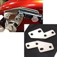 Stainless Bagger FL Rear Fender Grab Bar Eliminator Brackets For Harley Touring Wide Fender