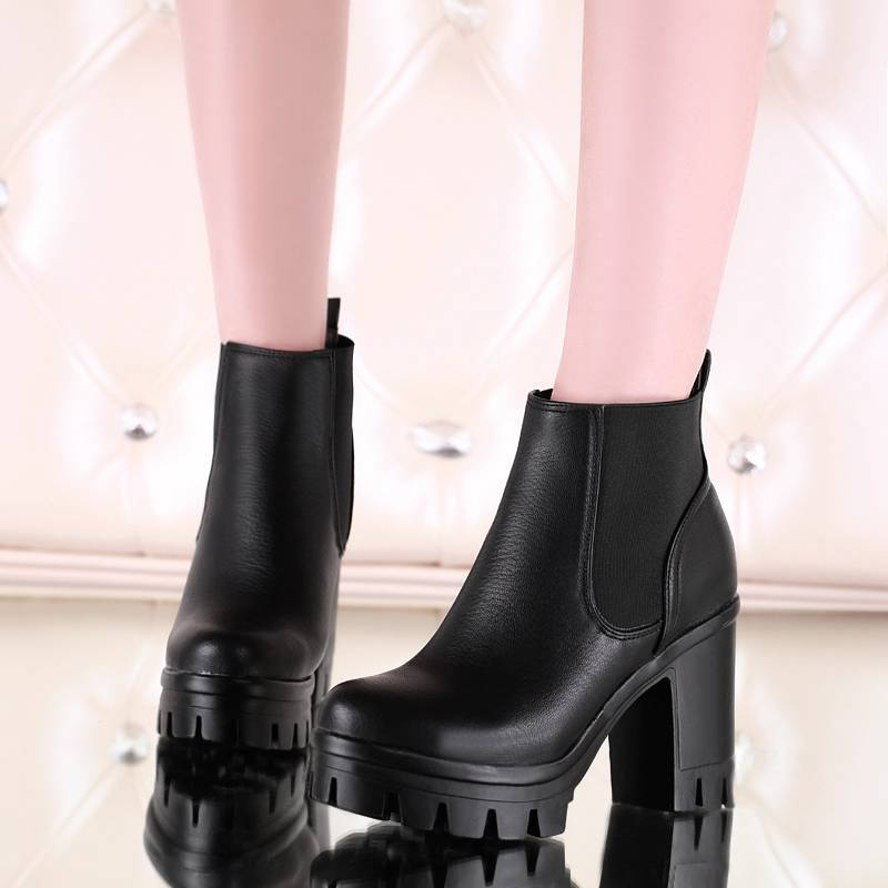 Plus Size34 43 2016 New Sexy font b Women b font Boots Autumn platforms pumps Lady