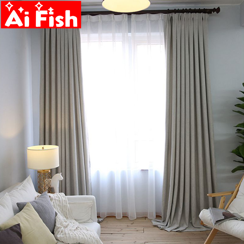 aliexpress  buy solid thick simple modern curtain for