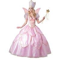 Hot Sexy Elegant Deluxe Fairy Godmother Costume Adult Glinda Wizard Of Oz Halloween Fancy Dress