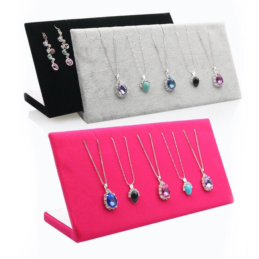 Type L Pendant Necklace Display Holder Rack Jewelry Organizer Storage Stand Size 11.5*25*8.5cm