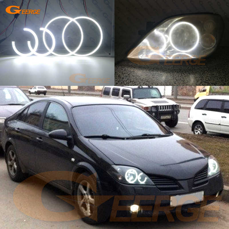For NISSAN PRIMERA P12 2002-2008 Excellent Ultra bright illumination smd led Angel Eyes kit DRL