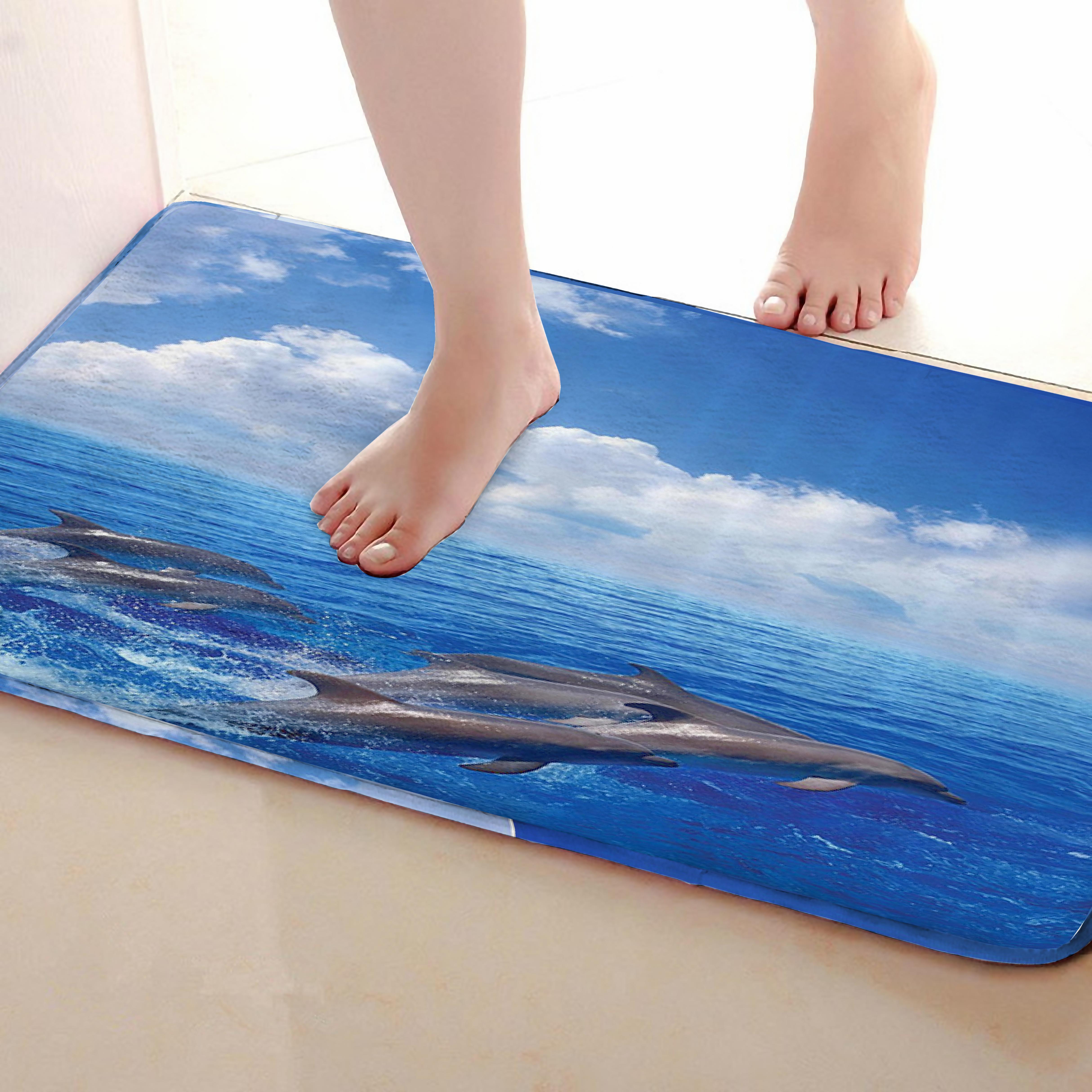 Dolphin Style Bathroom Mat,Funny Anti skid Bath Mat,Shower ...