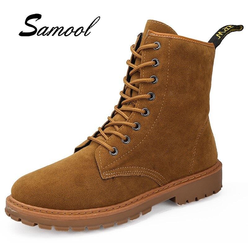6abf6e06b486e2 Hombre Bottes Confortable Automne Cheville Chaussures Sex3 Mode Hommes  Haute Casual Brown Cuir khaki Qualité Imperméable En Zapatos De Marque  5PZ7wqE