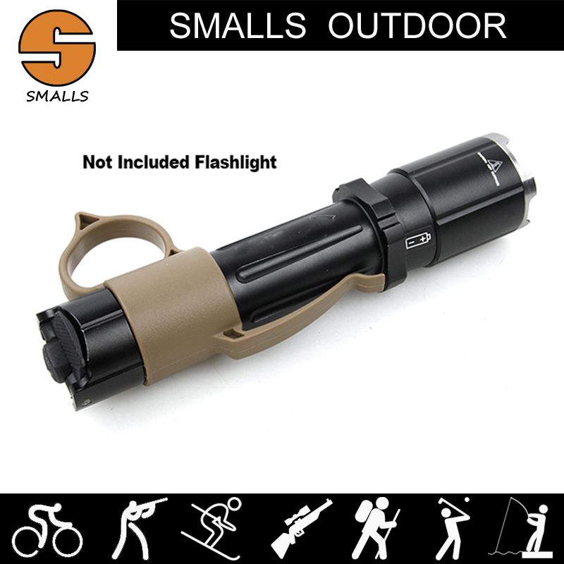 Ar 15 Accessories Airsoft Nylon Backup Tactical LED Flashlight Ring For Hunting Weapon Light image