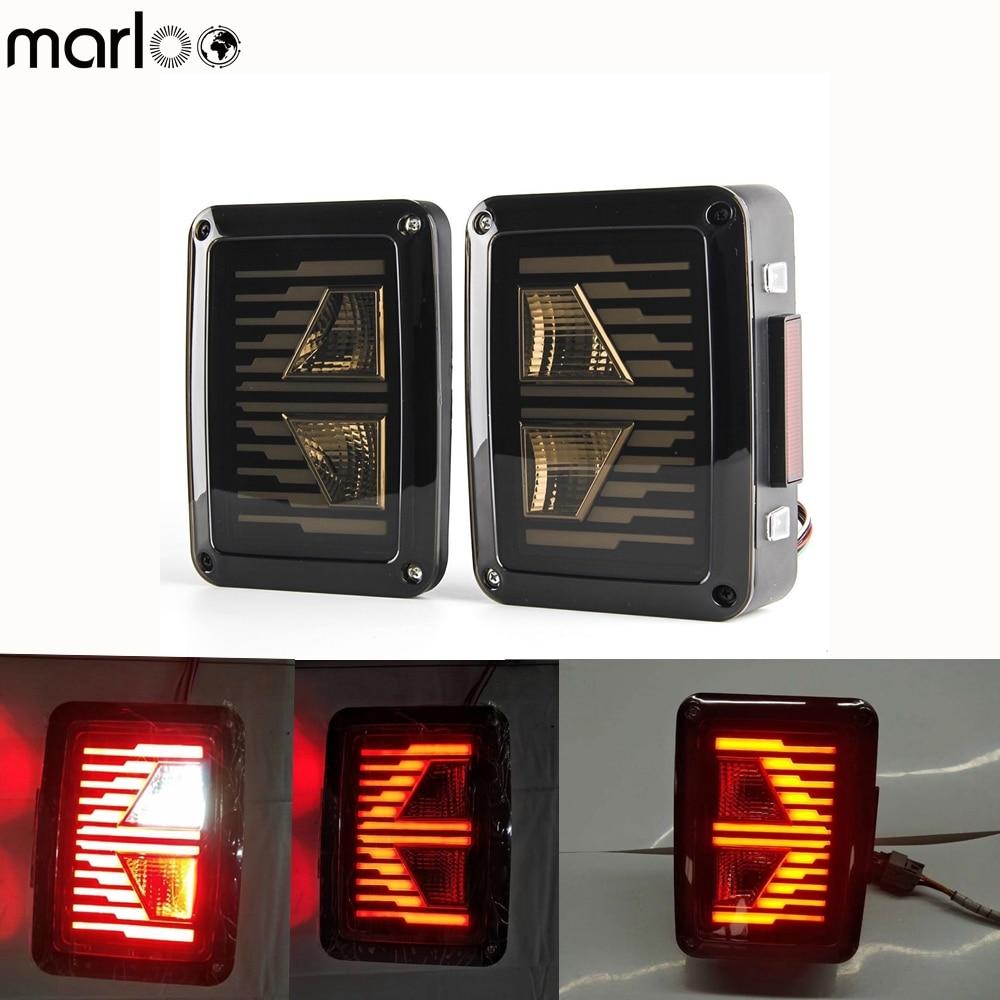 Marloo Wrangler JK Led Tail Lights Replace For Jeep 2007 2008 2009 2010 2011 2012 2013 2014 2015 2016 2017 Taillights ( US / EU) a set black car floor liner tpe for jeep wrangler jk 2 door 2007 2008 2009 2010 2011 2012 2013 2014 2015