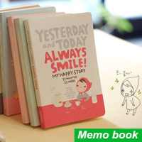 Cute Notebook Red Hat Girl Agenda Week Plan Diary Day Planner Journal Record Stationery Office School