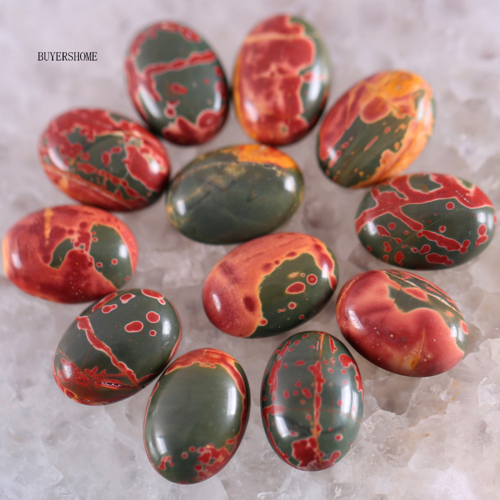 New Natural Stone Red Picasso Jewelry CAB Cabochon Free Shipping 10PCS K1610