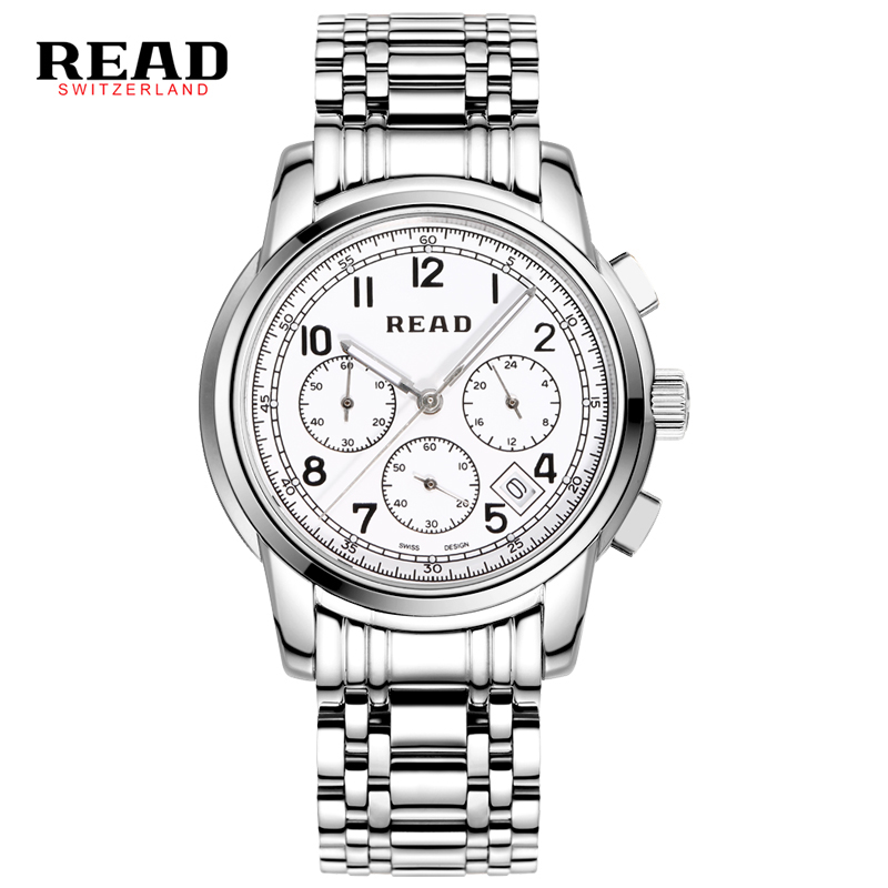 2017 READ Luxury Brand Watches Mens Quartz Watch Mens Classic Leather Watch Mens Fashion Casual Waterproof Stainless Steel Watch fashion dali brand leather leather watch luxury classic a6