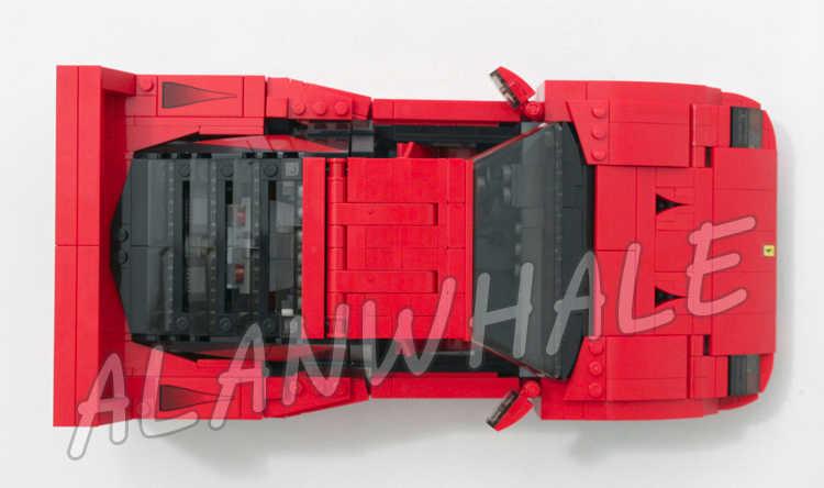 1157 шт. Creator Expert Technic мобильный Супер спортивный автомобиль 10567 модель строительные блоки собрать Подарки Наборы совместимы с Lego