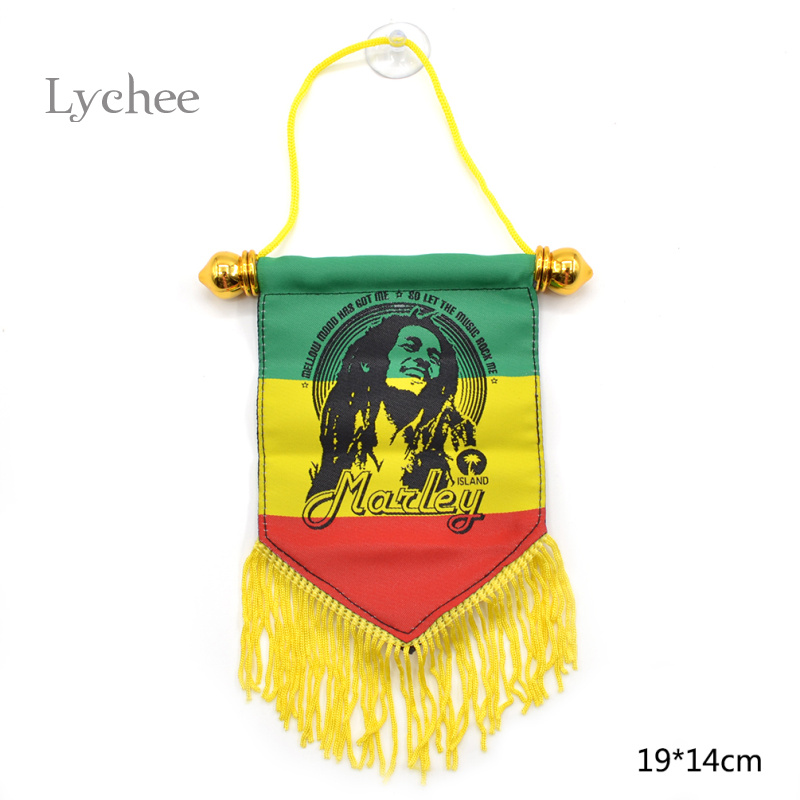 Lychee 1 Piece Jamaica Bob Marley Freedom Hanging Flag Banner image