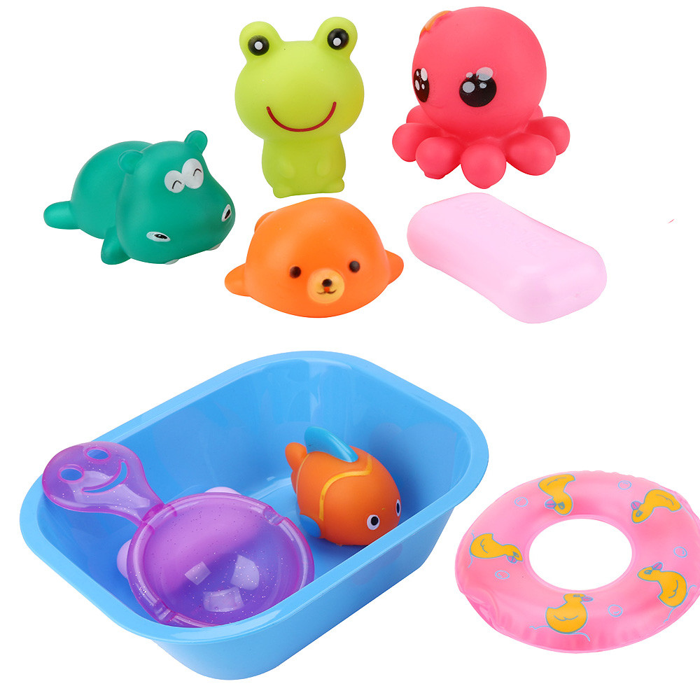 9 Pcs Kid Cartoon Colorful Funny Educational Toys Baby Bath Swimming Wash Play Toys Pretend Play Water Toys 30S874 wholesale