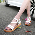 Rome Fashion Women's Sandals 2016 Summer Women Summer Shoes 2016 Summer Sandals Rome Black White Brown big size