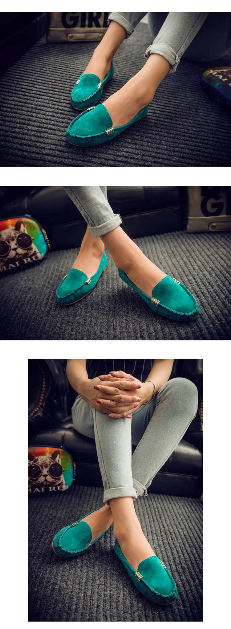 Hot Sale 2016 Summer Woman Flats New Fashion Pure Color Wild Concise Flat Casual Shoes Round Toe Comfortable Female Shoes DT81 (3)