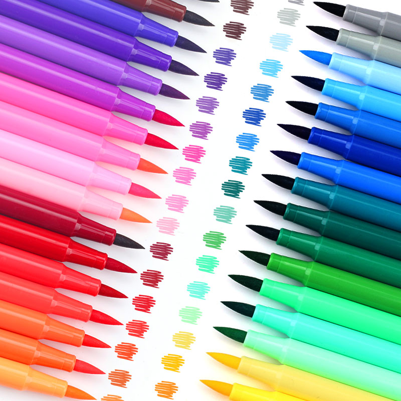 18 24 36 48 colors soft head brush water color pen children safe nontoxic drawing pen school student office art stationery w110145 soft head fine water mark pen 48 60 color beginners painting professional equipment advanced ink student art suit