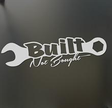 Built Sticker Funny Turbo Wrench Drift Lowered Car Window Fashion Personality Creativity