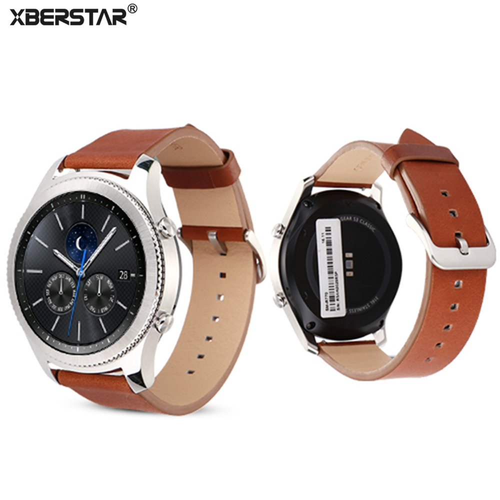 Genuine Leather Watchband Bracelet Strap For Samsung Gear S3 Frontier/Classic SM-R770 SM-R760 SM-R765 Smart Watch