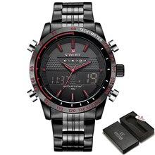 Luxury Brand NAVIFORCE Men Fashion Sport Watches Men's Quartz Analog Digital Clock Man Full Steel Wrist Watch relogio masculino