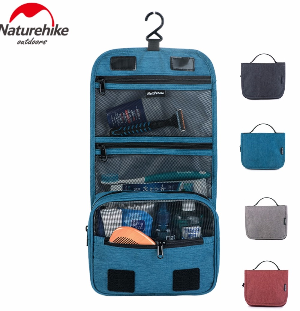 Naturehike Factory Sell Men Women Waterproof Cosmetic Bag Make Up Toiletry Bag Storage Multifuction Travel Swimming Wash Bag
