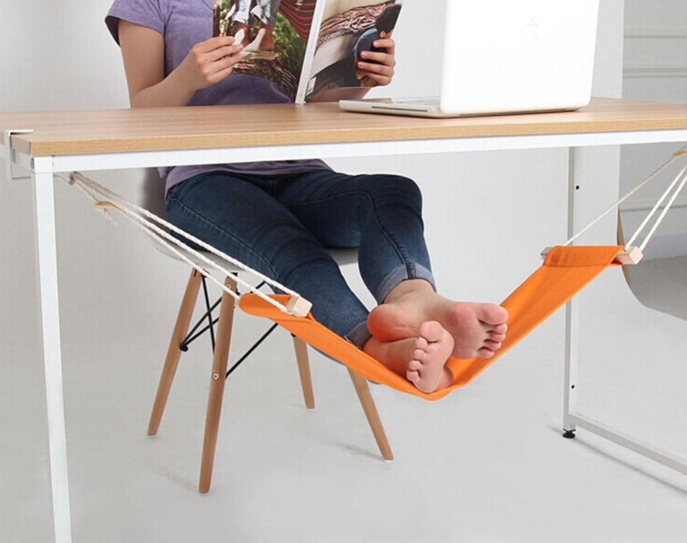 YONTREE 1 Pc Adjustable Office Hammock Desk Foot Rest Stand Table Hanging Indoor Hammock H1396 раскладушка therm a rest therm a rest luxurylite mesh xl