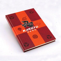 Naruto cosplay notebook Anime Village Hidden The Leaves cartoon logo pocketbook Collectible Exquisite free shipping