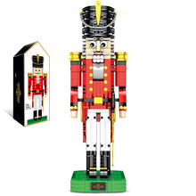 SLPF Wood People Soldiers Children Educational Assembled Diy Building Blocks Brick Toys  Christmas Gifts Compatible Legoing I12