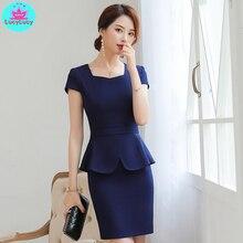 2019 лето корейской версии нового профессионального женского костюма с короткими рукавами небольшой  Лучший!
