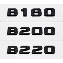 Car Accessories Rear Trunk Number Letter Sticker for Mercedes Benz B Class B180 B200 B300 B250 B260 B220 W203 W211 Emblem Badge