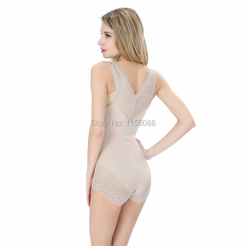 100pcs/lot Women sexy lace shapewear Body shaper Slimming waist Body Shaping suits postpartum girdles Corrective bodysuit corset