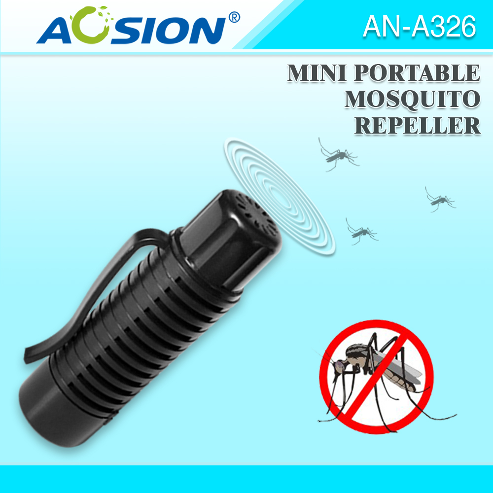 Livraison gratuite AOSION Mini Portable À Ultrasons Moustique Répulsif repelente de moustique pest rejeter anti moustique répulsif