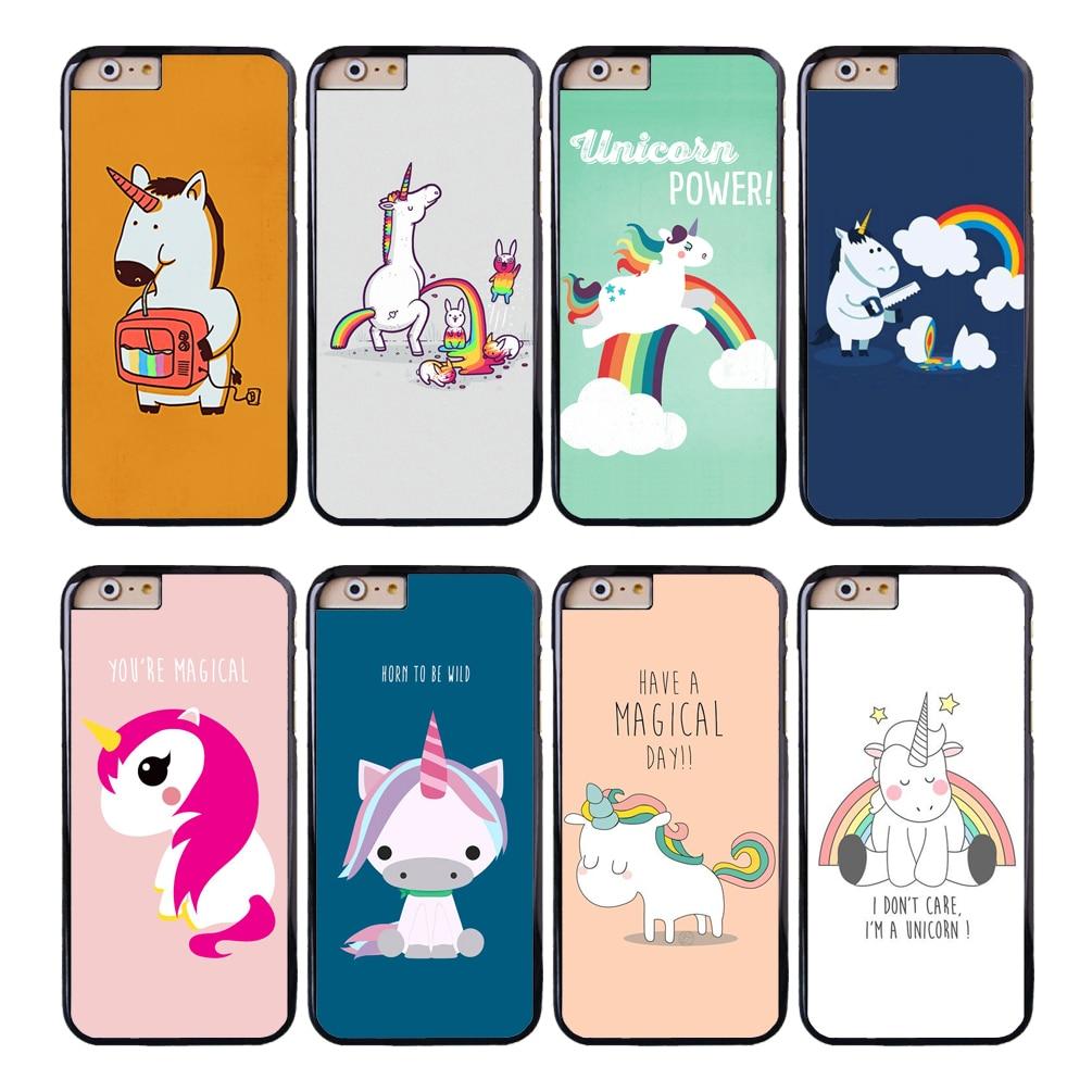 coque cartoon rainbow unicorn capa phone cases for iphone. Black Bedroom Furniture Sets. Home Design Ideas