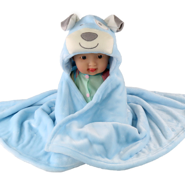 Free shipping cute animal shaped baby blankets blanket cape multicolor variety of animal shapes choice