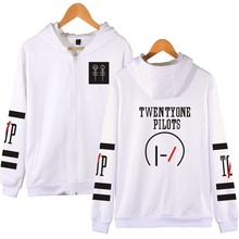 Twenty One Pilots Band New Mens Jackets Sweatshirt Fashion Zipper Jerseys Lovers Hoodie