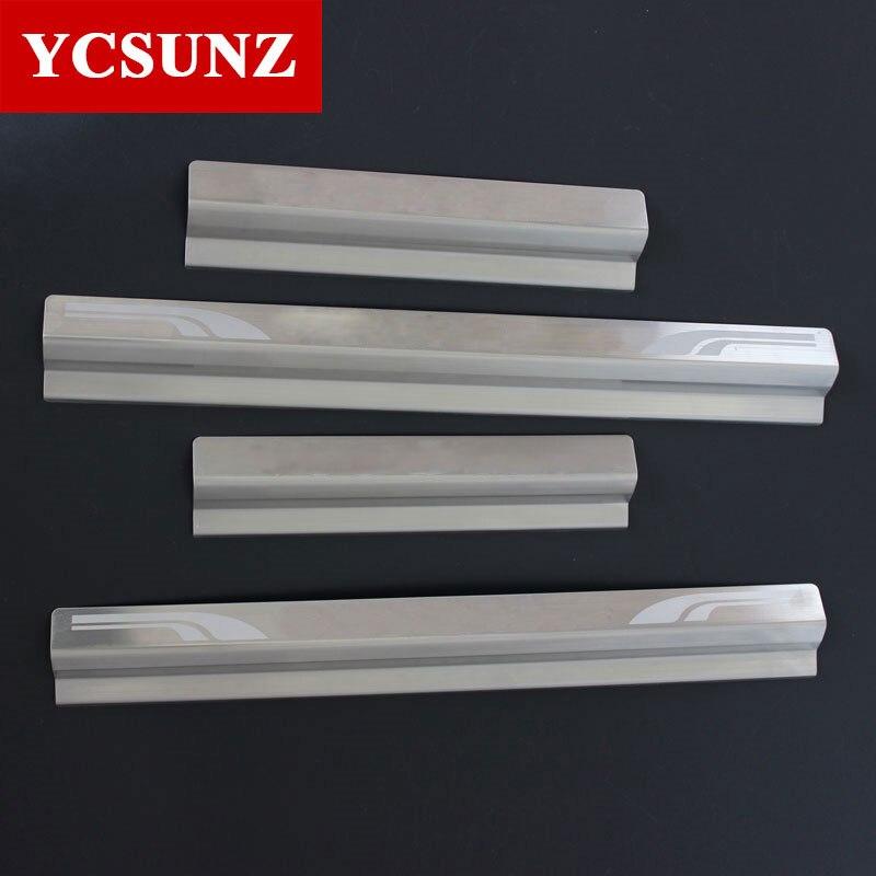 For Toyota Hilux Threshold Strips 100 Steel Door Decorative Thresholds For Toyota Hilux Vigo 2005 2014