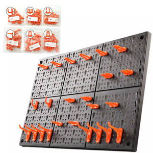 Hook-Parts Shelving-Tool Organize-Box Hanging-Board Hole-Plate Garage-Unit Wall-Mounted
