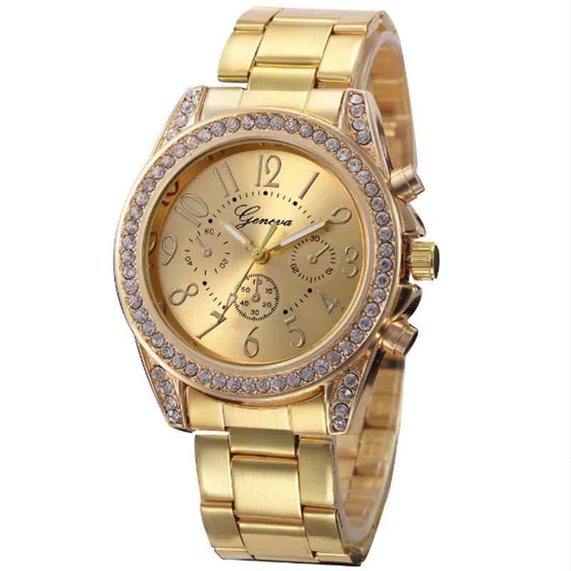 Horloges Geneva Quartz Watch Women Montres Femme Lady