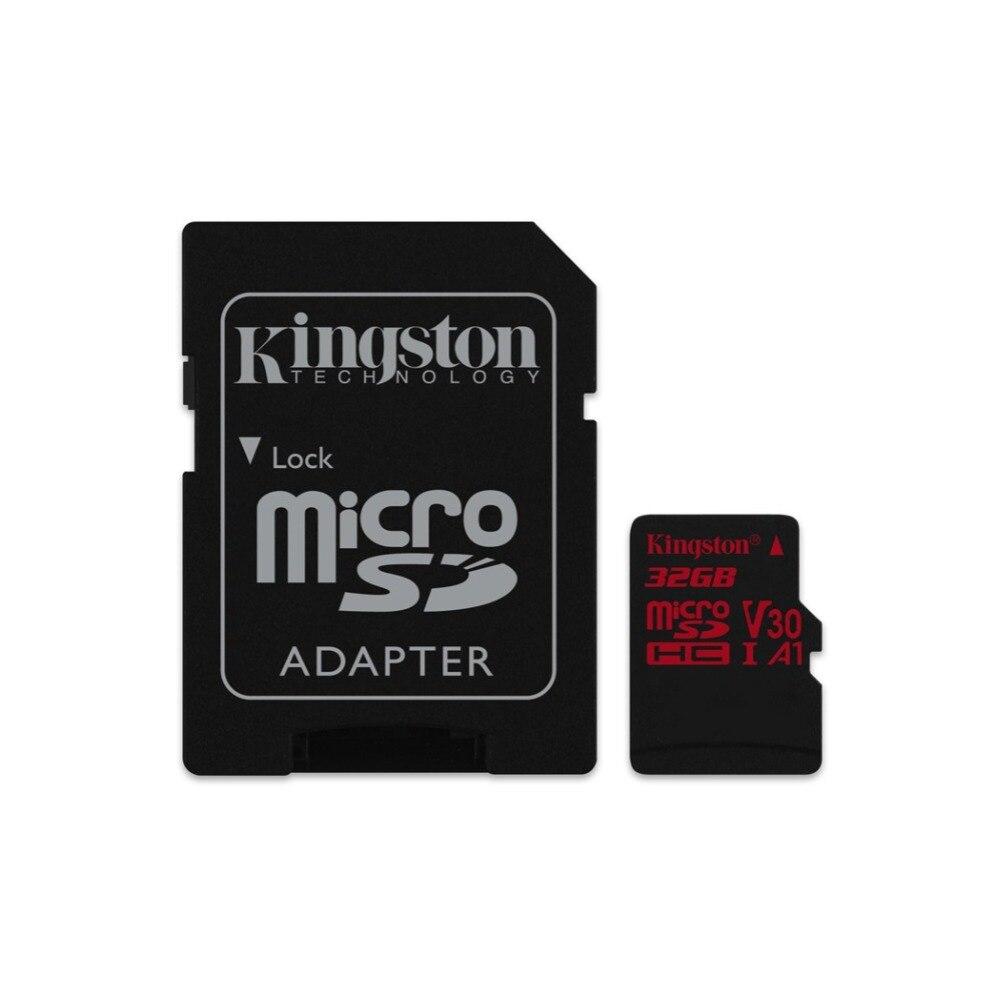 Kingston Technology Canvas React, 32 GB, MicroSDHC, Clase 10, UHS-I, 100 MB/s, Negro, Rojo