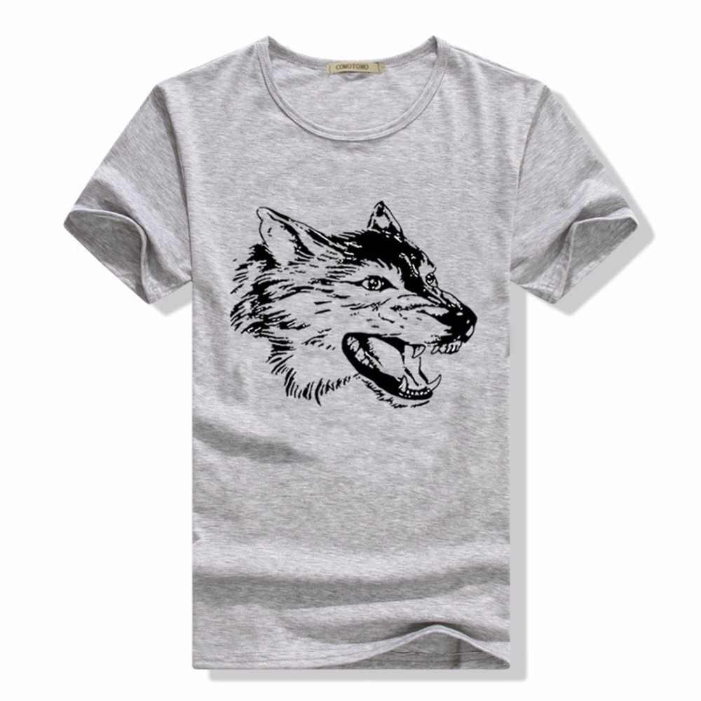 2e5c34d2eeb ... Tshirt Animal Print Wolf T Shirt Men Anime Mens T Shirts Fashion 2017 Slim  Fit Short ...