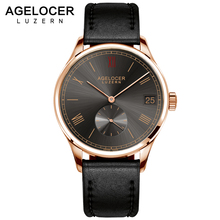 Agelocer Men Watch Swiss Luxury Famous Brand Relogio Masculino Business Sport Mechanical Wrist Watch Multi functional