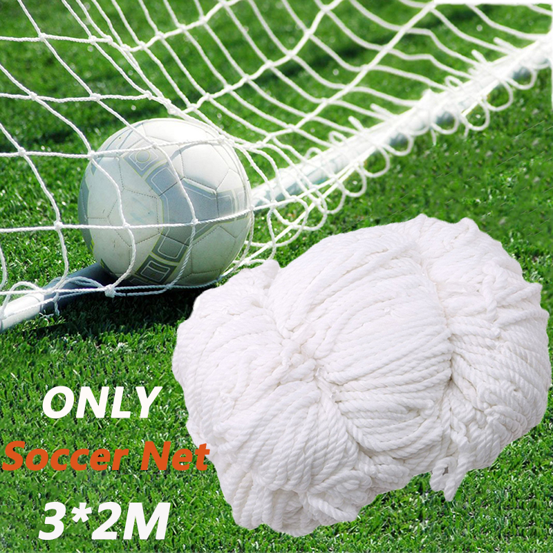 Football Net Soccer Goal Net Soccer Ball Cotton Football Training Post Nets Full Size Soccer Accessories 3*2M (Nets Only)