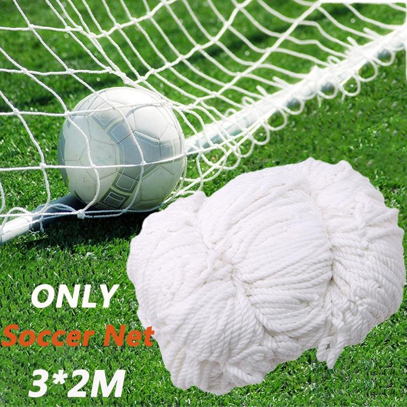 Football Net Soccer Goal Net Soccer Ball Cotton Football Training Post Nets Full Size Soccer Accessories 3*2M (Nets Only)