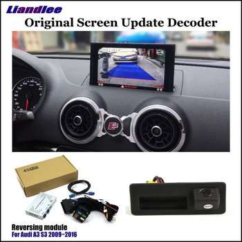 HD Reverse Reversing Parking Camera For Audi A3 8V S3 8P 2010-2019 2020 Rear View Rearview Backup Camera Decoder Accessories car rear reverse parking camera for audi a4 b8 b9 2010 2013 2014 2015 2016 2017 2019 2020 reversing backup camera hd decoder