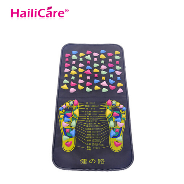 Foot Massage Pad Health Care 70*35 cm Cobblestone Pain Relief Stone  Massager Mat Walk Muscle Stimulator Acupressure Therapy-in Massage &  Relaxation