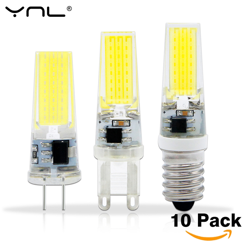 10PCS Lampada LED G4 Lamp AC DC 12V 220V COB E14 Bombillas LED G9 Light Bulb Lighting replace Halogen Spotlight Chandelier