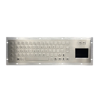 Metal Keyboard Touchpad Touch Pad With Trackpad Rugged Kiosk Keyboard Manufacturer Waterproof Touch Screen Membrane Keypad