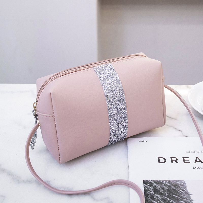 Patchwork women messenger bag small shoulder bag female Panell handbag purse fashion artificial leather crossbody bag for ladies in Shoulder Bags from Luggage Bags
