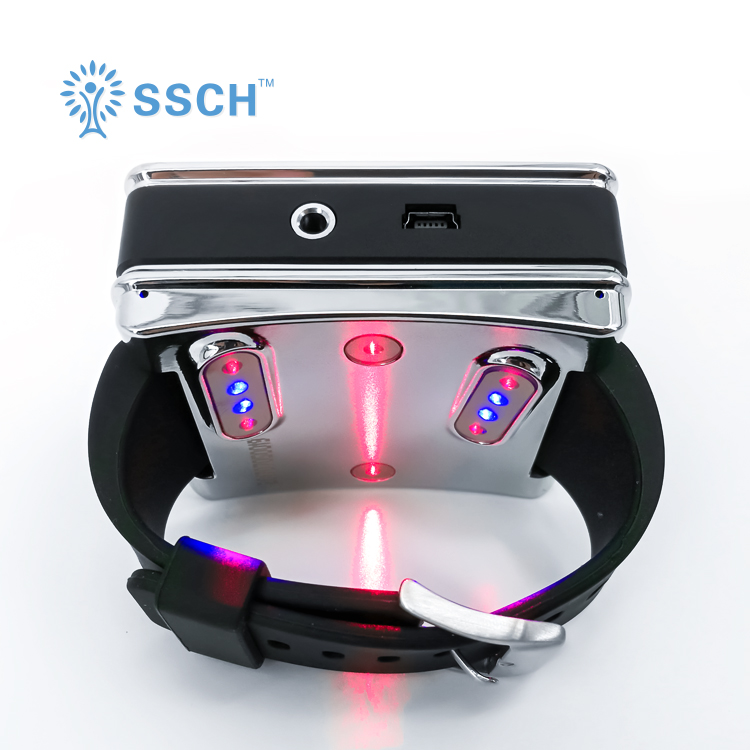 26 lasers Low Level Laser Therapy 650nm and 450nm Wrist watch Semiconductor Diabetes laser therapy apparatus h3200zf 3 three phase dc to ac 200a 4 32vdc industrial grade solid state relay set ssr set not incluidng tax