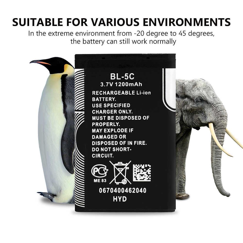 BL 5C BL5C 1200mAh استبدال بطارية ليثيوم طويلة الأمد BL-5C بطاريات ليثيوم أيون لنوكيا 6680 6681 6682 6820 6822 7600 7610