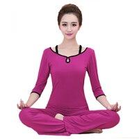 2Pcs Sportwear Women Yoga set Modal Shirts Pants Sport Set Gym Clothes Sport wear Training suit Performance Clothing